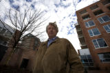 David Steel, Presdient stands in front of Western Development Groups new brownstone ready to open...