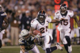(0755) Tatum Bell scores in the first quarter of the Denver Broncos against the San Diego Chargers...