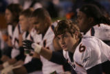(1137)Jay Cutler watches from the bench in the fourth quarter of the Denver Broncos against the...