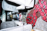 This police photograph shows the inside of Linda Holt's van after it was discovered the day after...