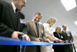 Representatives from Northrop Grumman Corporation and senior government officials take part in a...