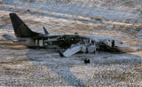 (PG5536) The wreckage of Continental Flight 1404 sits at Denver International Airport in Denver,...