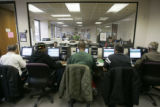 Every work station is used as unemployed men and women  search for jobsat the Denver Workforce...