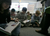 4th graders at  at East Elementary School in Littleton,CO read along with Jennifer Crowley  during...