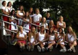 (all players to be identified by Alan Pearce) 2005  All-Colorado girls tennis team photographed at...