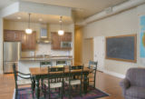 Myrtle Hill Lofts, a converted school at 1125 S Race St. in Washington Park.  This unit was the...