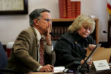 (PG15426) Senator David Schultheis, R-Colorado Springs, listens to testimonies on Monday, January...