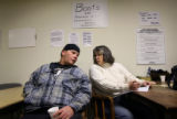 (PG15632)  Robert Pope (cq) answers question while participating in a survey with Family Tree...