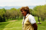 (CHERRY HILLS, Colo., May 16, 2005) Hollis Stacy, Open champ in '77, '78 and '84 stands outside...