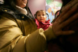 0130 Jaquelene Palacios, 2, CQ, a medicaid recipient, is held by her mother Rosa Palacios and as...