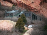 RMN191-4-20-99-Denver,Co. - Home of suspect Dylan Klebold at 9351 Cougar Rd. in Deer Creek Canyon...