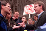 RMN 324- 5/1/99  A protest organized by Colorado Coalition Against Gun Violence were against the...