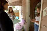 [Denver, CO   6/14/04]   Adults who were sexually assaulted as kids by clergy  hand out flyers...