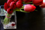 "(PG0800) The ""Dutch Treat"" is a specical tulip arrangement for Valentine's Day at..."