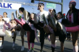 Members of the Michelle Latimer Dance Academy in Greenwood Village kick up their heels Sunday...