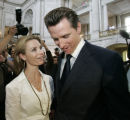 CAPS119 - **FILE** This May 15, 2008 file photo shows San Francisco Mayor Gavin Newsom and fiance...