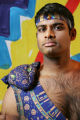 Sean Panikkar plays Nadir in the opera, The Pearl Fishers, in costumes designed by Zandra Rhodes,...