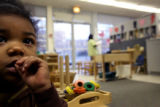 (PG0214) Alanah Smith, 2, (cq) spends time in the toddler classroom at the child care center at...