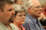 Jennifer Blagg's family members, from left, brother, David Loman; mother, Marilyn Conway; and...