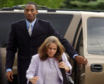 NBA star Kobe Bryant arrives at the Eagle County Courthouse with  his defense attorney Pamela...