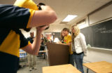 149  Shawn McHugh, with the Daily Camera, photographs Emma Marion, Junior, 16, Ben Raderstorf,...