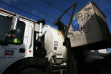 Mark Duran Sr. (cq) drives a trash truck for Denver's Department of Public Works Solid Waste...