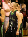 049  5A girls basketball: Thunder Ridge, #13 Rachel Messer stands with her team in the second half...