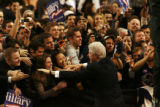 MJM284  Former President Bill Clinton greets the crowd before speaking at a the Solutions for...