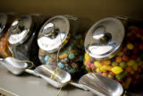 Several candies can be found in bins at the all Kosher East Side Kosher Deli at 499 S. Elm St.,...