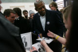 MJM029 Oscar winning actor, Forest Whitaker signs autographs and talks with fans after attending a...