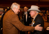 (Denver, Colo., Jan. 16, 2008) Hank Brown greets Ben Houston (National Western Stock Show Chairman...