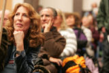 Boulder County democrat Sacha Millstone listens to a speech in supporty of Hillary Clinton  in the...
