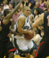 Thunderidge High School's Dave Arnold gets past Ridgeview High Schools Justin Clark during the...