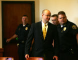 Tim Masters enter courtroom 2A before being released at the Larimer County Justice Center in Fort...