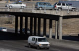 Vehicles pass over  I-70 on  84th Avenue in Thornton Tuesday January 29,2008. TRIP, a national...