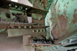 Rust and corrosion on the I-25 bridge over the South Platte River  near Invesco Field Tuesday...