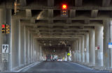 Traffic heads west underneath I-70 near Vasquez Tuesday January 29,2008.  TRIP, a national...