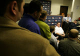 0164 Denver Broncos head coach Mike Shanahan address the media about the 2007 season and what the...