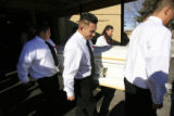 DM0360   Josue Olivas, center, and the other pallbearers carry the casket of 11-year-old Angelica...