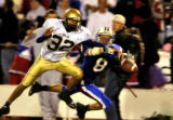 (GREENWOOD VILLAGE, Colo., Oct. 21, 2005) Mullen's Colby Riggins, #32, (cq-roster) knocks the ball...