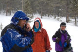 (Leadville, Colo., Jan. 5, 2008) Geoff Miller, Jon McManus, and Sandee Miller (wife) are at the...