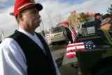 Photo by Dean Humphrey--Matt McCurry with the Sons of the Union veterans of the Civil War escorts...