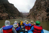 (NYT47) GRAND CANYON NATIONAL PARK, Ariz. -- Oct. 5, 2005 -- GRAND-CANYON-RELIGION --Rafters view...