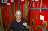 Jeff Hatton, of Paonia, brought his historic fly rod collection to The Fly Fishing Show at the...