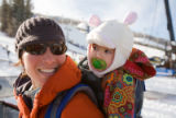 (Aspen, Colo., Jan. 26, 2008) Janine and Aria Cuthbertson.  Winter X Games 12 at Buttermilk...