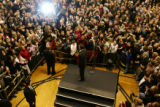 [913] Barack Obama addressed the packed overflow crowd who could not get into the rally in Denver,...