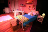 Bedroom from set of Girls Only.   Barbara Gehring (cq) and Linda Klein (cq) creators and...