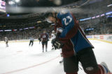 BG0117 Colorado Avalanche #23 Milan Hejduk skates against the Minnesota Wild # in the first period...