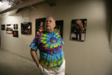 Barry Fey tours the gallery of pictures that lead to the stage on Tuesday, April 15, 2008 in...