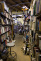 Books line the shelves at West Side Books on 32nd street in Highland square on April 15, 2008....